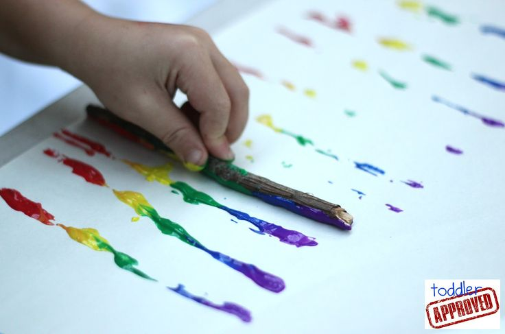 Toddler Approved!: Rainbow Stick Painting
