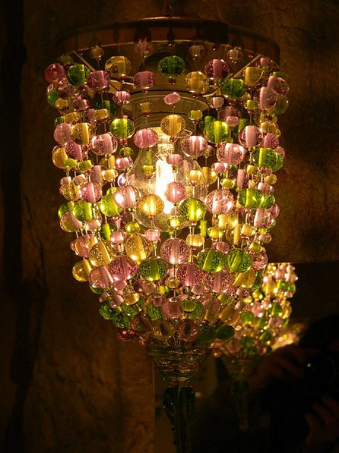 9A Loupiote mauve et verte en verre de Murano   Flickr: partage de photos!