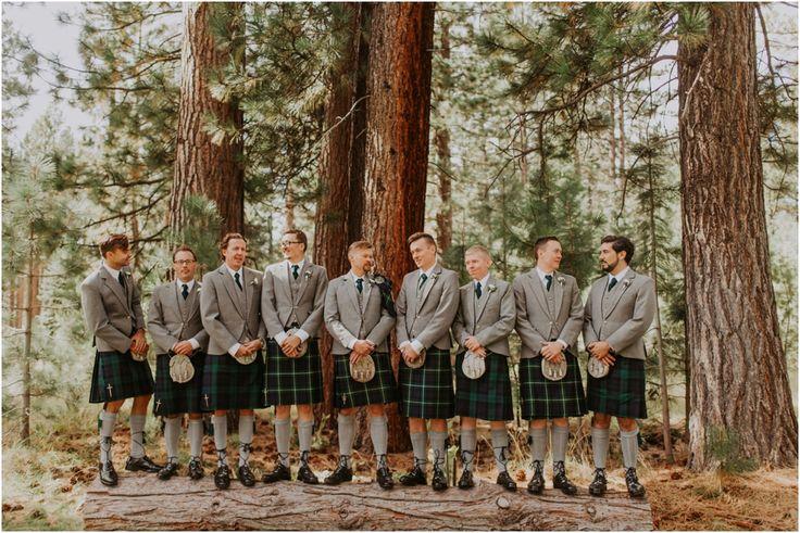 Lake Tahoe Wedding, Valhalla, Enzoani Wedding Dress, South Lake Tahoe, California Wedding Photographer, Destination Wedding Photographer, Lake Tahoe Wedding Photographer, Connection Photography, Drone Photographer, Mavic Pro, Drone, Scottish Wedding, Groomsmen, Kilts, Outdoor Wedding Inspiration