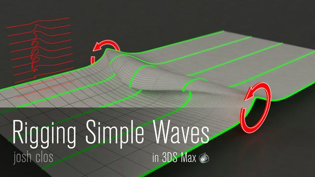 3DS Max Tutorial - Rigging Waves #3d #3ds #max #tutorial #rigging #animation #waves #cg #3dsmax #3dtutorial