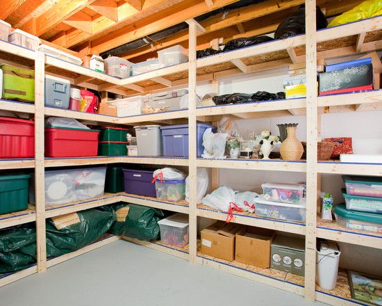 200 Garage and basement shelving photos: Basements Organizations, Basements Storage, Storage Rooms, Storage Shelves, Basements Design, Basements Ideas, Garage Storage, Storage Ideas, Basement Storage