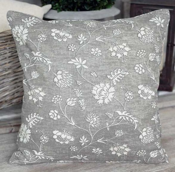 Floral Cement Cushion - £22.00 - Hicks and Hicks