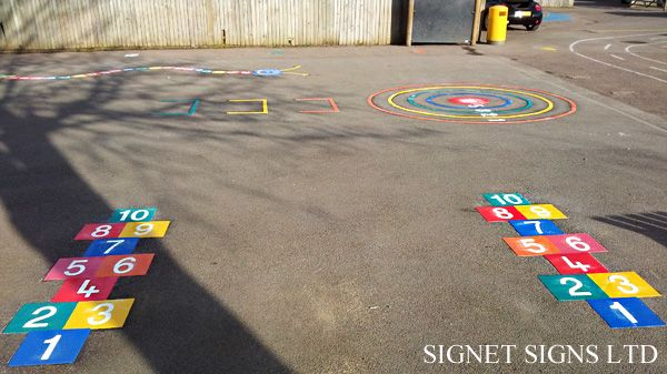 .::Signet Signs::. Robinswood Primary School Playground Markings