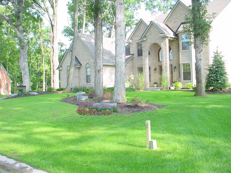 Connecting Mature Trees With Landscape Beds Can Make Mowing The Lawn Much Easier House And