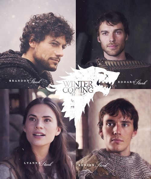 "amomentsindulgence: "" House Stark : ""Winter is Coming"" 
