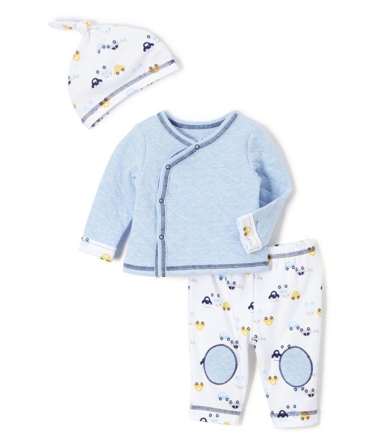 Blue Cars Cardigan Set - Infant