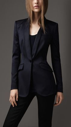 Ladies cream and black tuxedo jacket