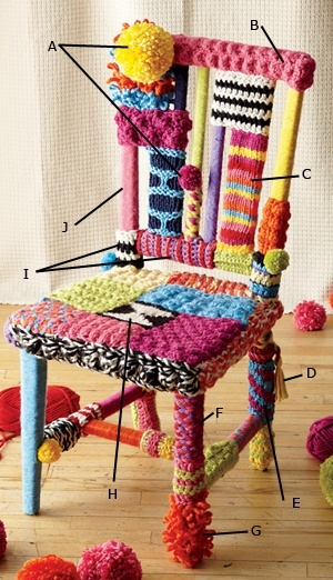 How to yarnbomb a chair!