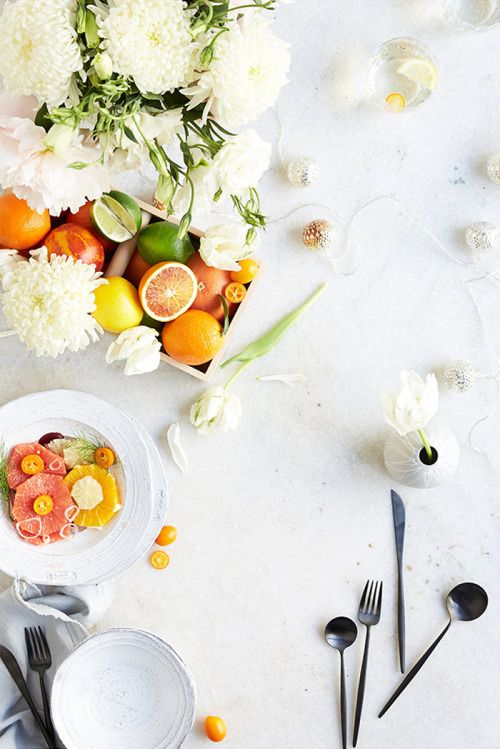 We've come up with a few simple tablescapes that you can put together with little more than the current contents of your grocery cart, now on the #AnthroBlog #Anthropologie