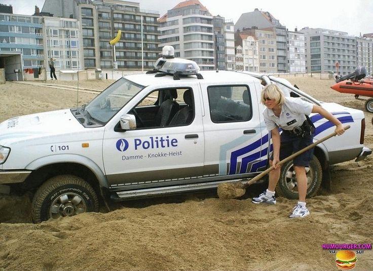 La police belge à l'action !!!