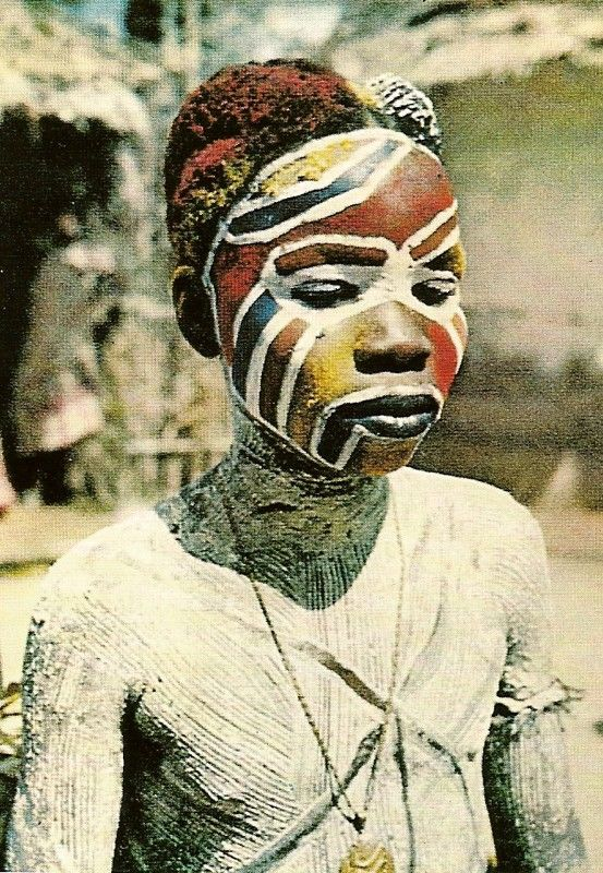 Africa | Ngere girl prepared for a festival | Dominique Darbois