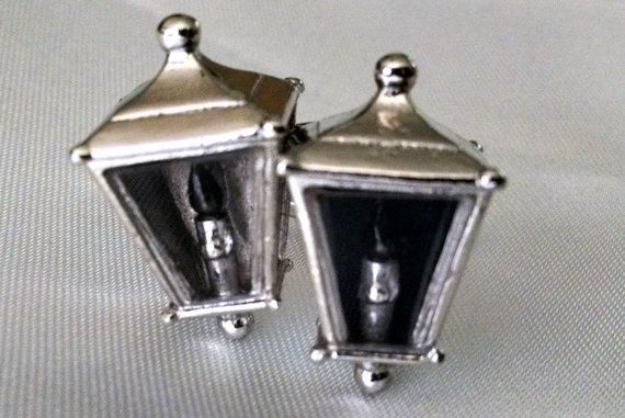 Cuff Links Vintage Rare Glass Lanterns with by StoneForestJewels