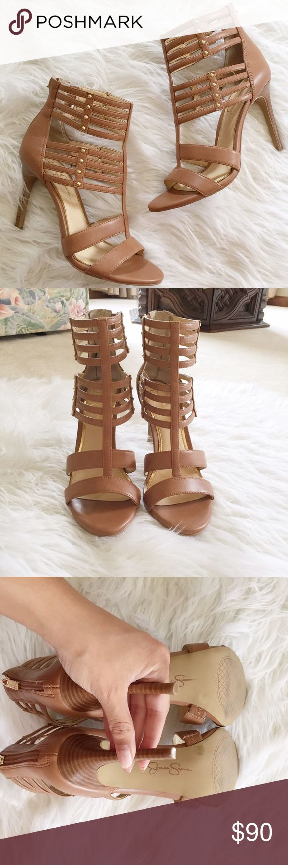 1 HR SALE‼️NWOT Jessica Simpson High Heel Sandal Gorgeous NWOT Jessica Simpson Strappy high heel sandals in excellent condition. Only flaw is light wear to bottoms from being in the store. 14gvff Jessica Simpson Shoes Sandals