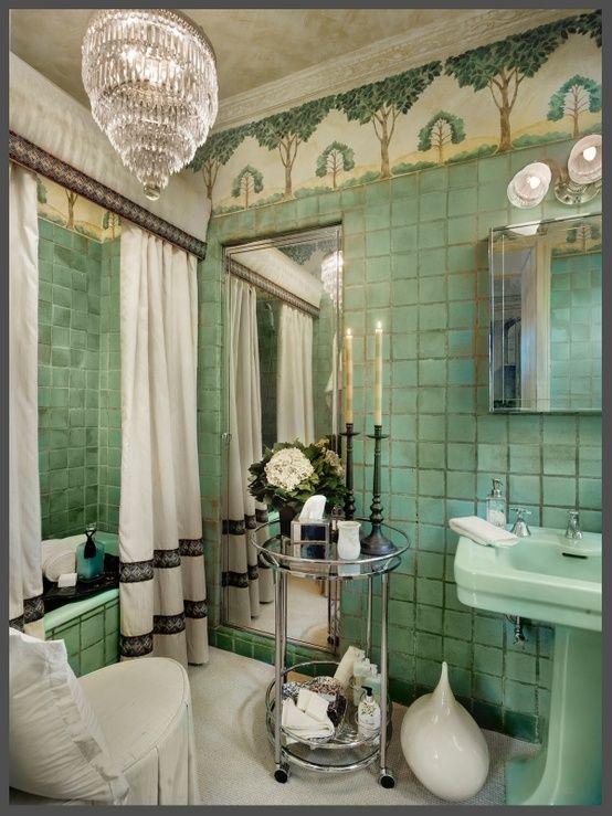 Art Nouveau Bathroom Tiles. Bathroom Bathroom Greenart Deco