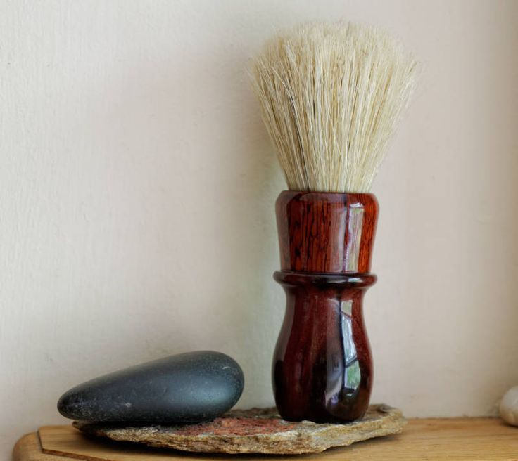 Shaving Brush - Hand-Made Waterproofed Katalox and Burmese Rosewood Shaving…