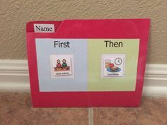 First Then Visual Schedule Daily Routine Behavior chart PECs Board Autism Special Needs ABA Therapy Daily Schedule Communication Board