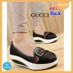 Fashion Wanita Slip On Gucci Polos Terlaris