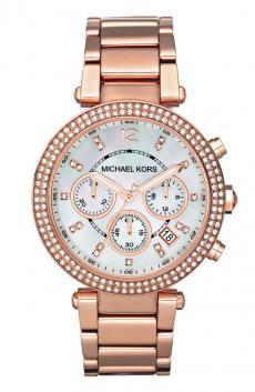 Michael Kors 'Parker' Chronograph Bracelet Watch Rose Gold