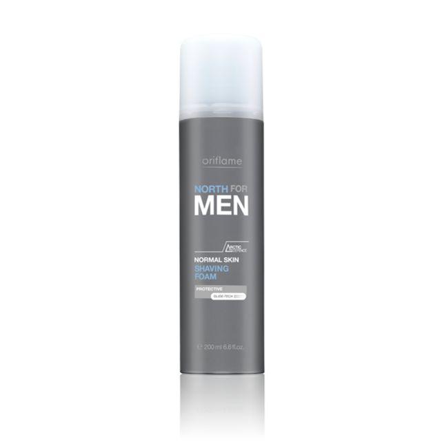 Espuma de Afeitar para Piel Normal North For Men. Espuma enriquecida con Arctic Pro-Defence garantiza un afeitado perfecto. Deja la piel suave e hidratada. Sin alcohol. 200  ml. Código:17358  #oriflame