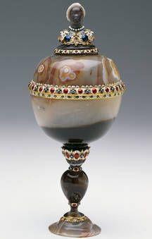 """""""Copa de ágata con cabeza de negro"""", Anónimo, finales del siglo XVI / primera mitad del siglo XVII"""