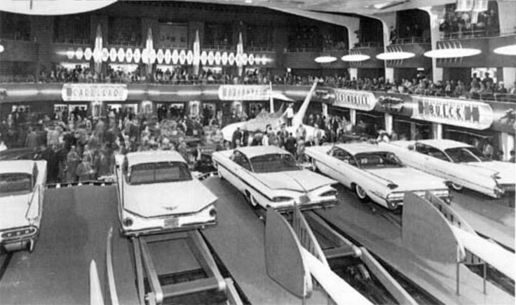 1959 Motorama behind the stage view