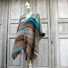 Poncho tissage style saori