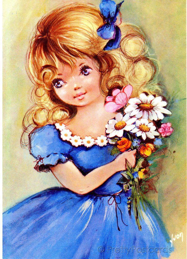 Язык, открытки дети цветы