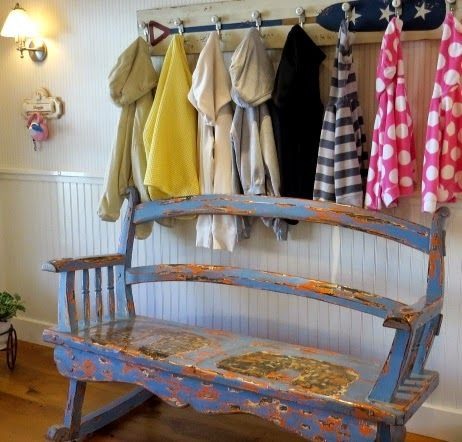 Nautical Entryway With Rustic Wood Bench And Oar Paddle Coat Rack: Http:// Part 79