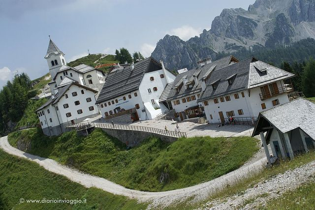 This is the small village situated on the top of Monte Lussari in Friuli Venezia Giulia. It develops around the small church of Madonna del Lussari that is a pilgrimage destination for both Italians, Austrian and Slovenian people