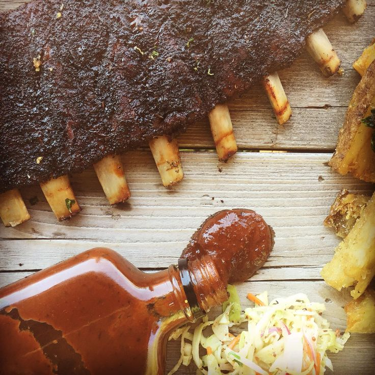 Cocoa and Coffee Rubbed Wild Boar Side Ribs with Classic BBQ Sauce