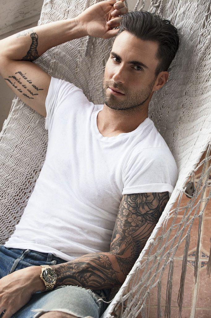 adam levine tattoos - 500×733