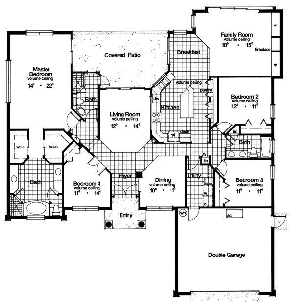 Florida mediterranean house plan 63229 house plans cool for Florida mediterranean house plans