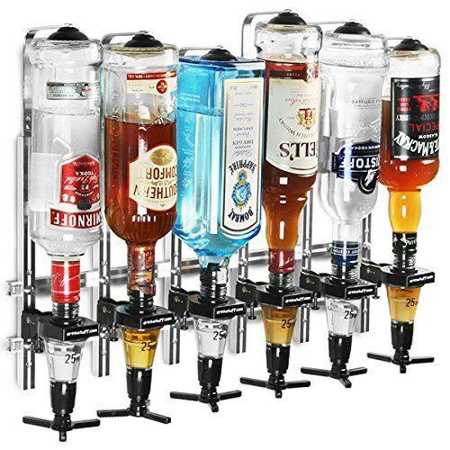 Drinkstuff Lot De 6 Distributeurs De Bouteilles D'Alcool Avec Doseur 25Ml À Accrocher Au Mur: L'article Drinkstuff Lot De 6 Distributeurs…