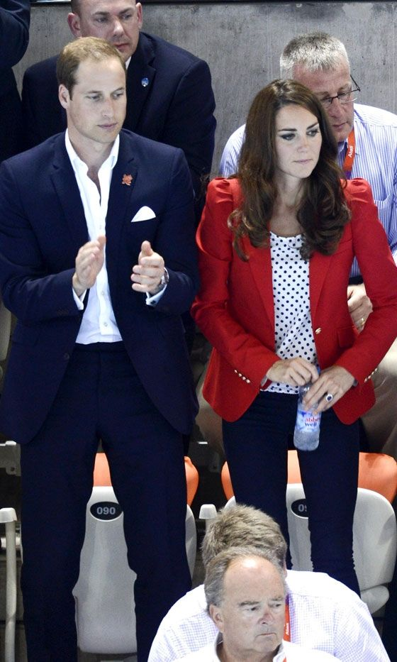 Kate Middleton, Duchess Of Cambridge, At The Swimming At The London Olympics, 2012