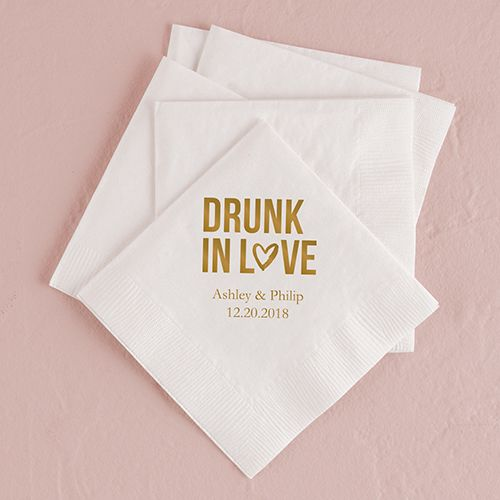 Drunk in Love Printed Napkins - The Knot Shop