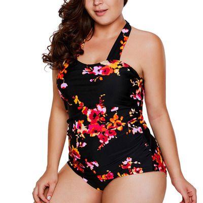 Large Print Swimsuit Sexy DIY Swimsuit