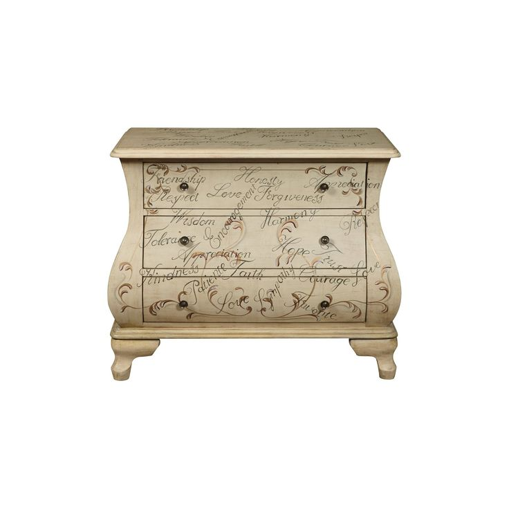 Lexington Accent Chest with Three Drawers White Motif - Pulaski