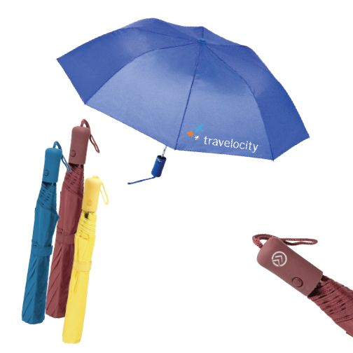 """The Mist Umbrella (200002) - Auto open compact umbrella -opens automatically -matching comfort grip -windproof design -43"""" arc -folded length - 16"""" -8 panels available in 7 colors!!!! (black, navy, red, royal, lime, white, and yellow)"""