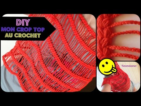 (2) CROP TOP AU CROCHET : FACILE (GAUCHERE) - YouTube