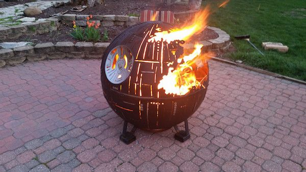 High School Welding Class Produced The Ultimate Death Star Fire Pit