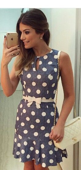 Vestido de bolinhas Mais