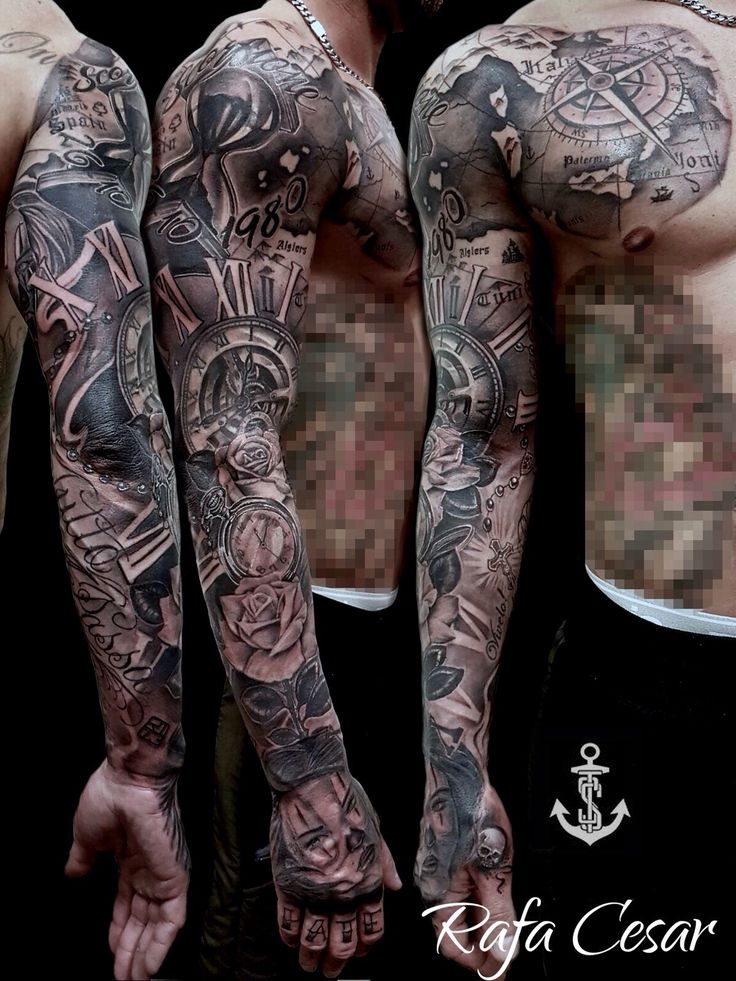 Chicano Sleeve Tattoo