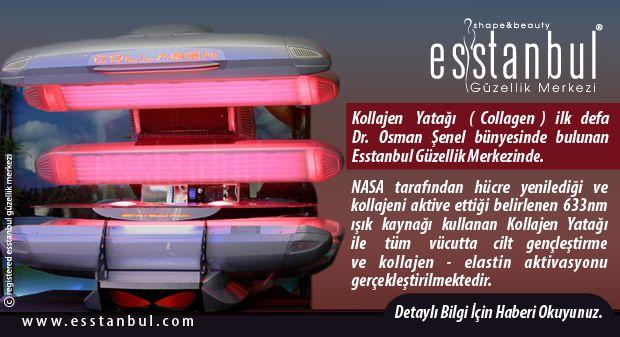 Kollajen Yatağı (Collagen) ilk defa Dr. Osman Şenel bünyesinde bulunan Esstanbul Güzellik Merkezinde.
