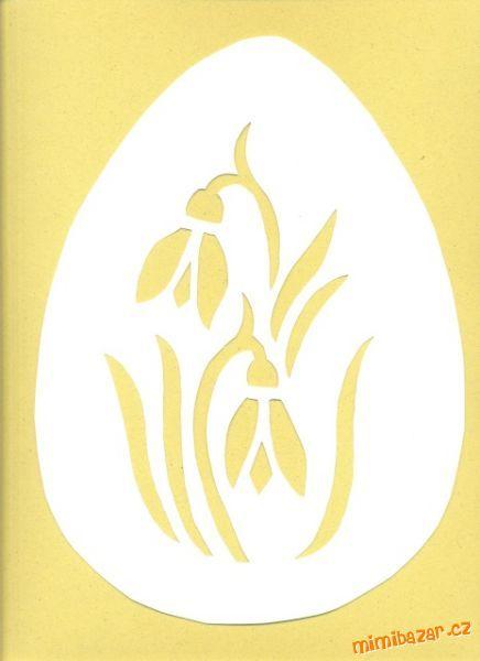 Vystřihuji to z barevných papírů nebo jen z bílých.<br><br>Ty vajíčka jsou nascenována, protože to n...