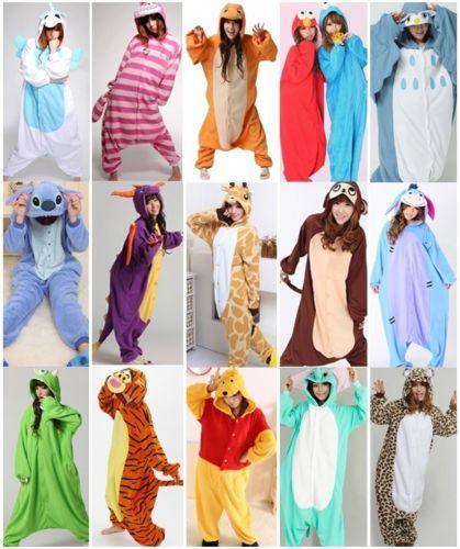Unisex Pijama Kigurumi Para Adultos Anime Cosplay Pijamas Disfraz Animal Onesies S ~ Xl in Clothing, Shoes, Accessories, Costumes, Unisex Costumes | eBay