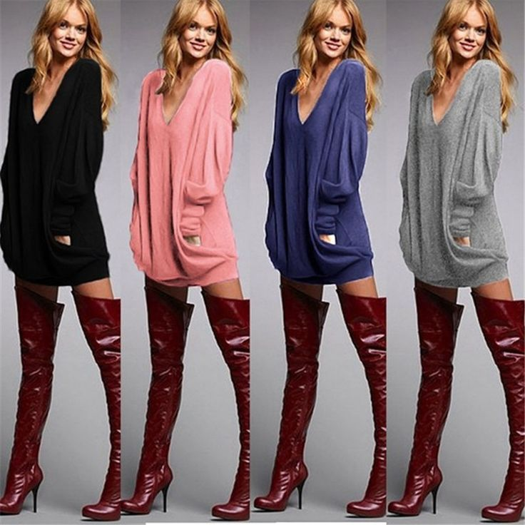 ZANZEA Плюс Размер 2016 Женщин V шеи Длинным Рукавом Случайные свободные Короткие Мини Платье Женщины Повседневная Твердые майка Платья свадебные платья купить на AliExpress