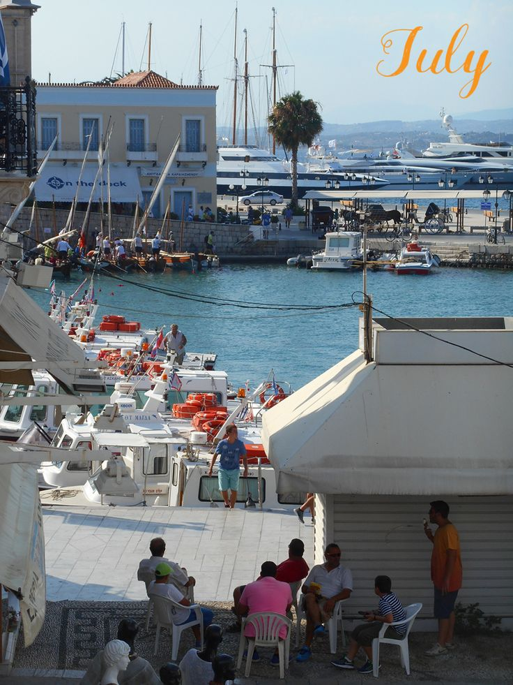 Summer days in Spetses Island