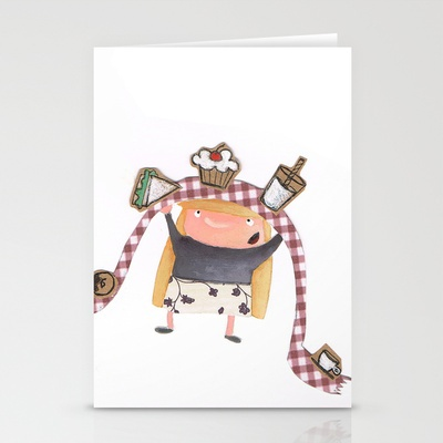buffet Stationery Cards by stefania coniglio - $12.00