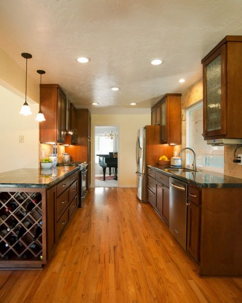 galley kitchen recessed lighting placement