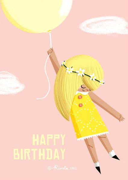 ┌iiiii┐ Happy Birthday by Kirstie Edmunds